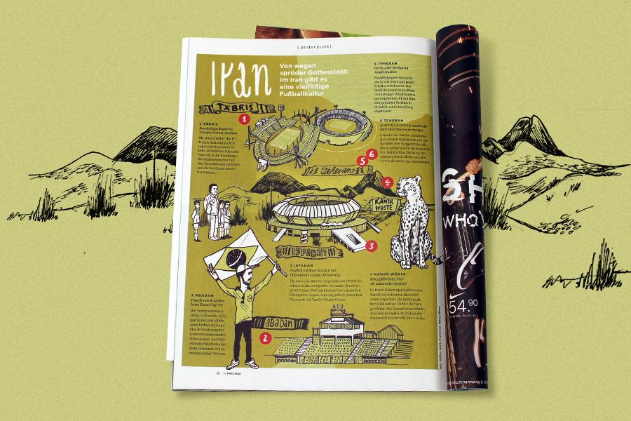 11 freunde illustration landkarte diana köhne