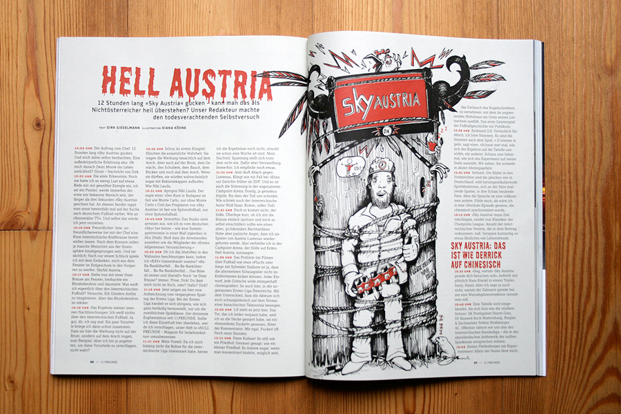 Illustration 11 Freunde Hell Austria