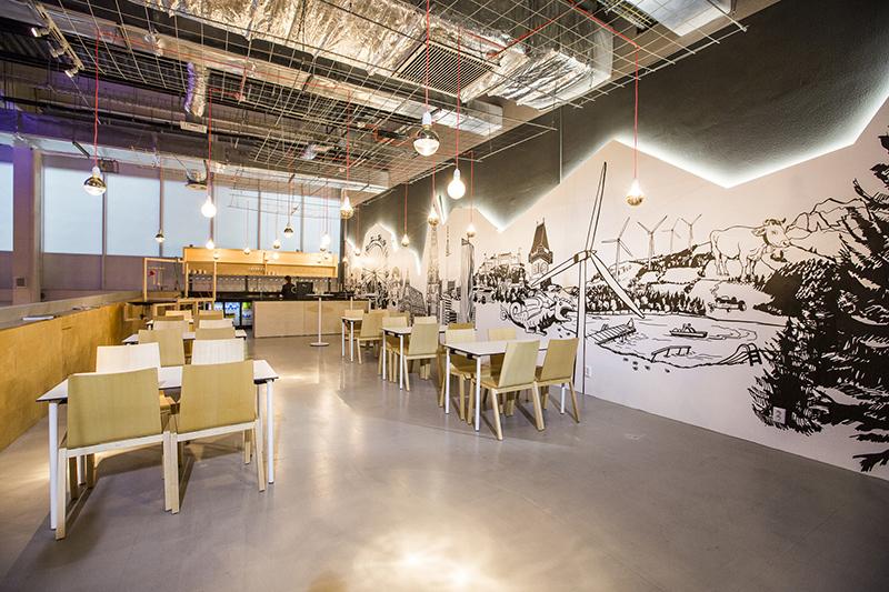 Wandgrafik für den Austria Pavillon | Expo Astana