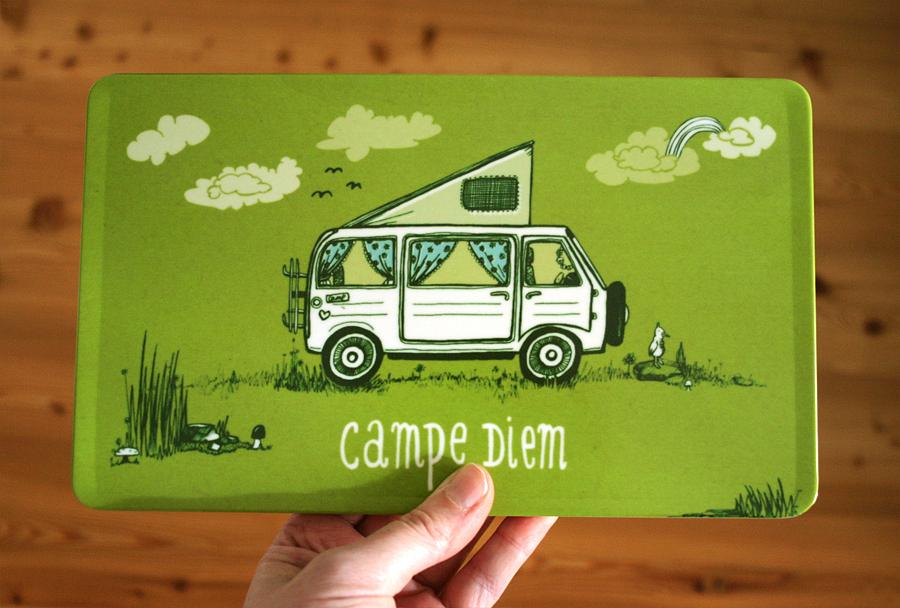 Campingbulli Frühstücksbrettchen