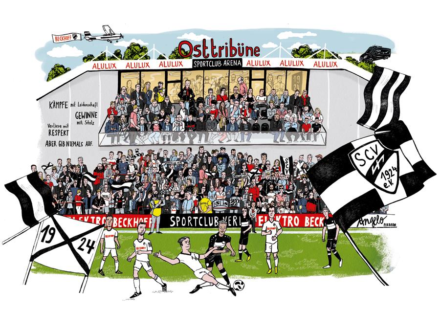 Stadion Wimmelbild SC Verl