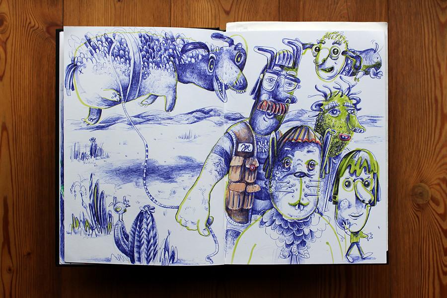 Skizzenbuchzeit Sketchbook Diana Köhne