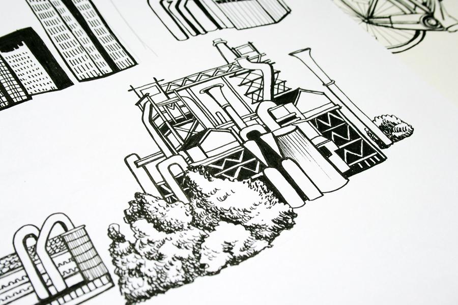Industriekultur Zeichnung