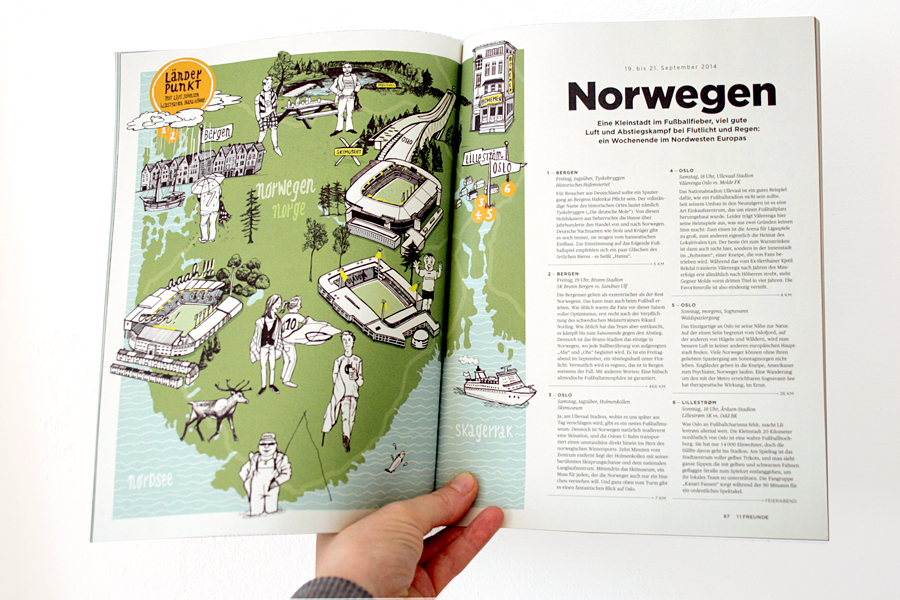 illustrated map norway