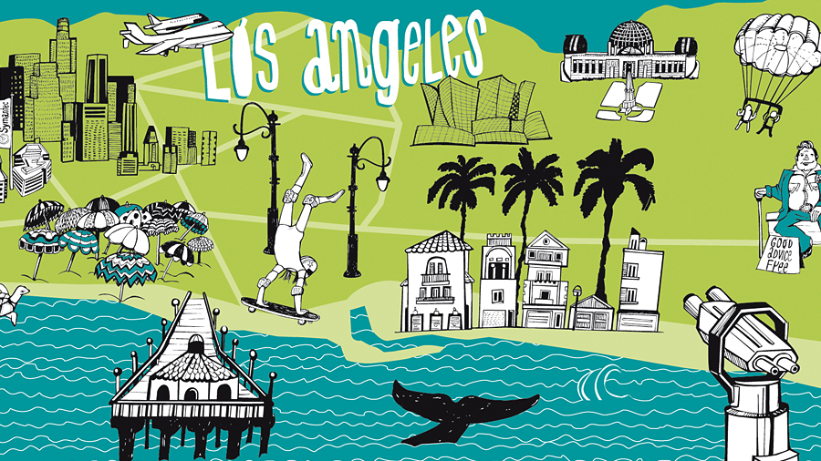 Illustrated Map Los Angeles #dianakoehne #illustration