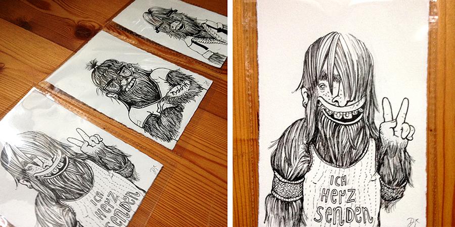 Zeichnung Monstergalerie