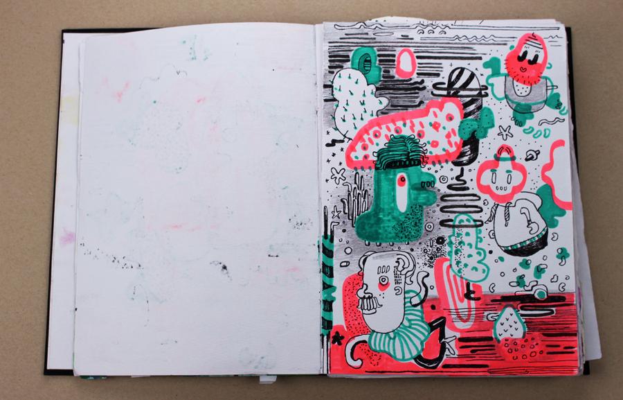 skizzenbuch seite diana köhne
