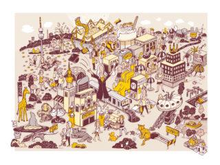 Stadt Wimmelbilder