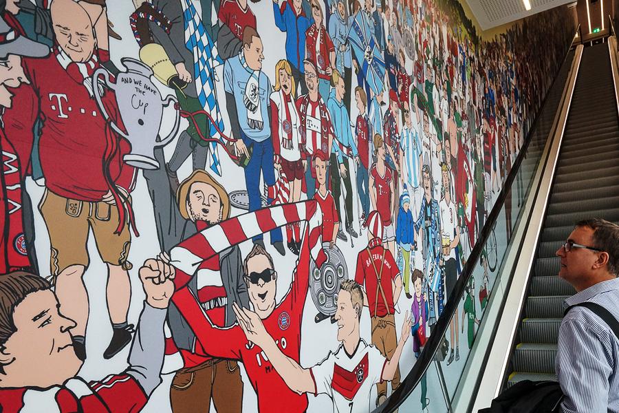 Fußballfan Wimmelbild von Diana Koehne
