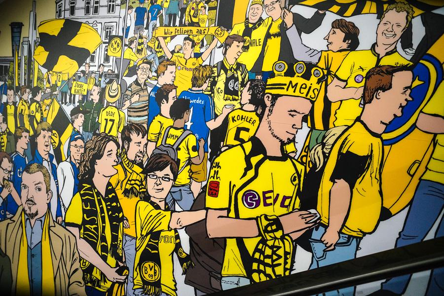 Fußballmuseum Wimmelbild von Diana Koehne