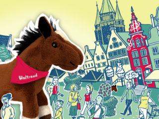Stadt Illustration Warendorf - Wo ist Waltraud?